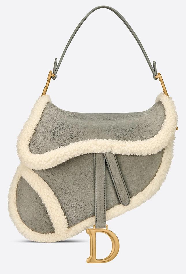 Dior Shearling Saddle Bag