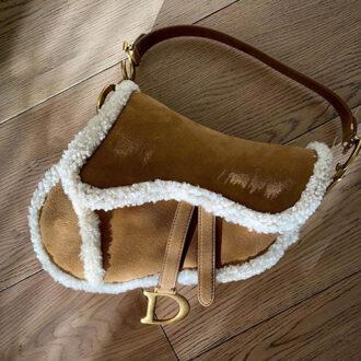 Dior Shearling Saddle Bag thumb