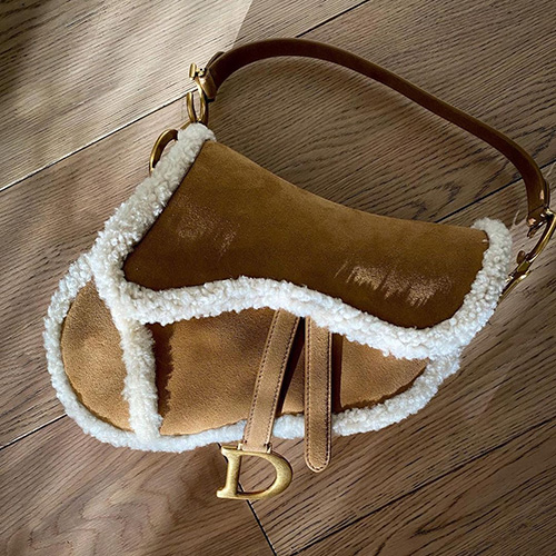 Dior Shearling Saddle Bag thumb