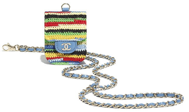 Chanel Embroidered Multicolor Airpods Cases