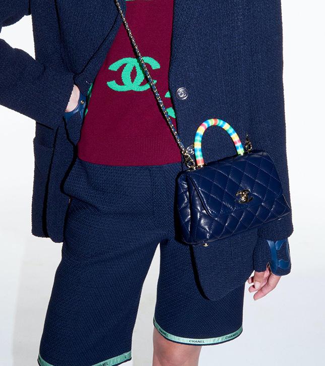 Chanel Rainbow Coco Handle Bag