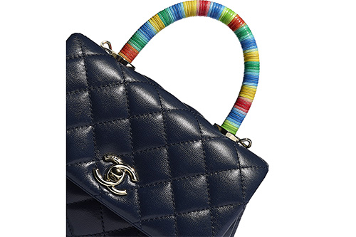 Chanel Rainbow Coco Handle Bag thumb