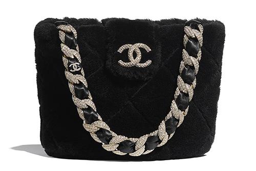 Chanel Shearling Bucket Bag thumb