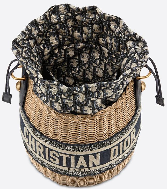 Dior Wicker Basket Bag