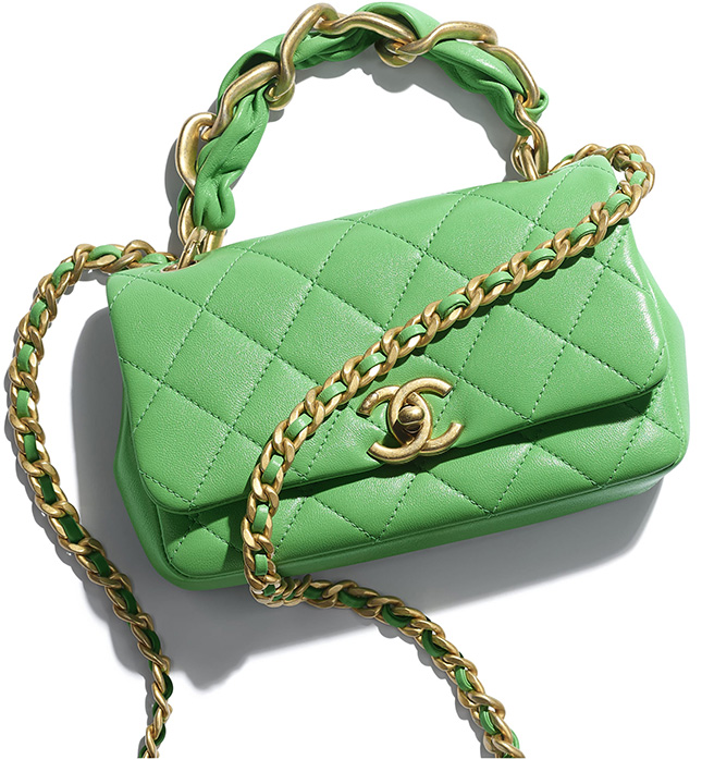 Chanel Leather Entwined Chain Bag