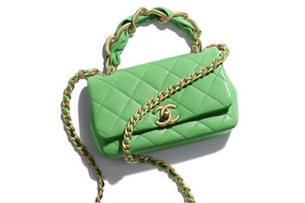 Chanel Leather Entwined Chain Bag thumb