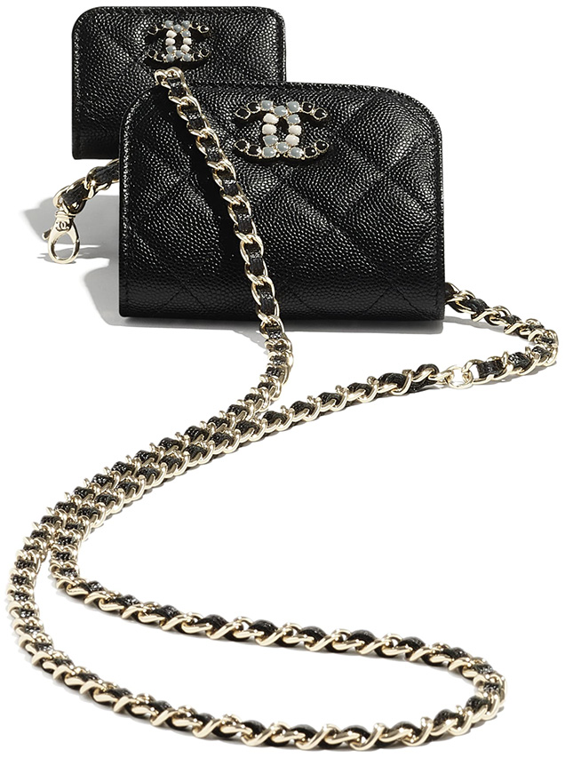 Chanel Phone Airpods Case With Chain