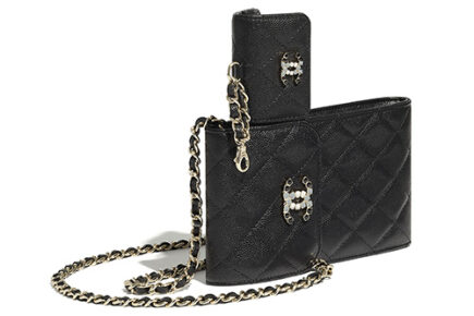 Chanel Phone Airpods Case With Chain thumb