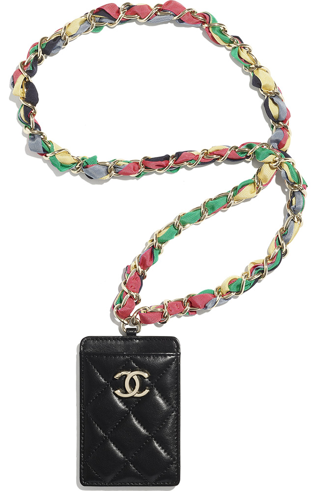 Chanel Ribbon Chain Small Leather Goods