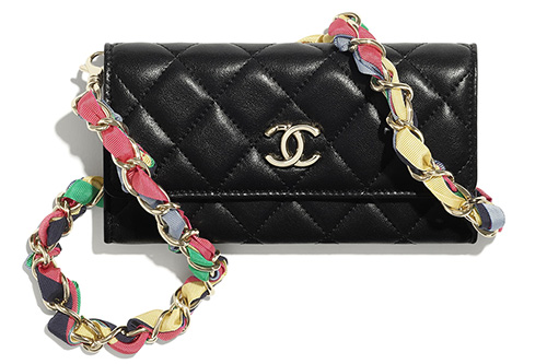 Chanel Ribbon Chain Small Leather Goods thumb