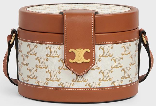 Celine Beige Triomphe Canvas Bag Collection