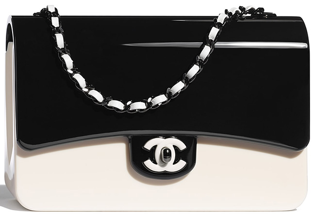 Chanel Black White Plexi Bag