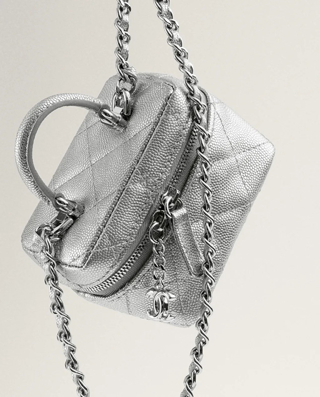Chanel Extra Small Vanity Cases With Chain