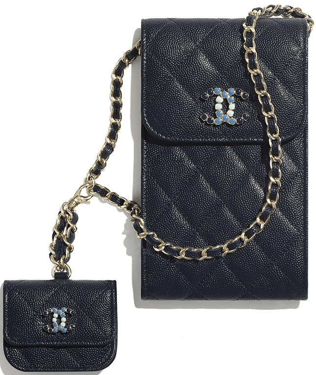 Chanel Lacquered Metal Logo SLG Collection