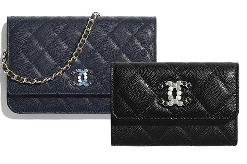 Chanel Lacquered Metal Logo SLG Collection thumb