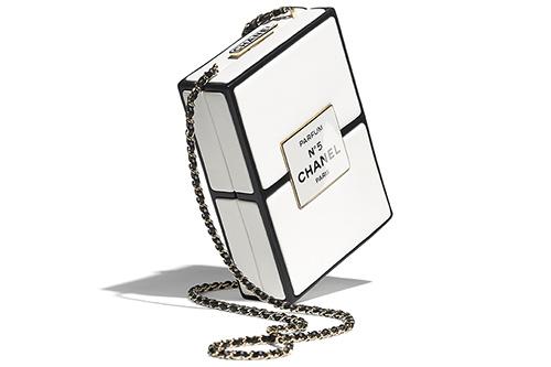 Chanel No. Parfum Box Evening Clutch thumb