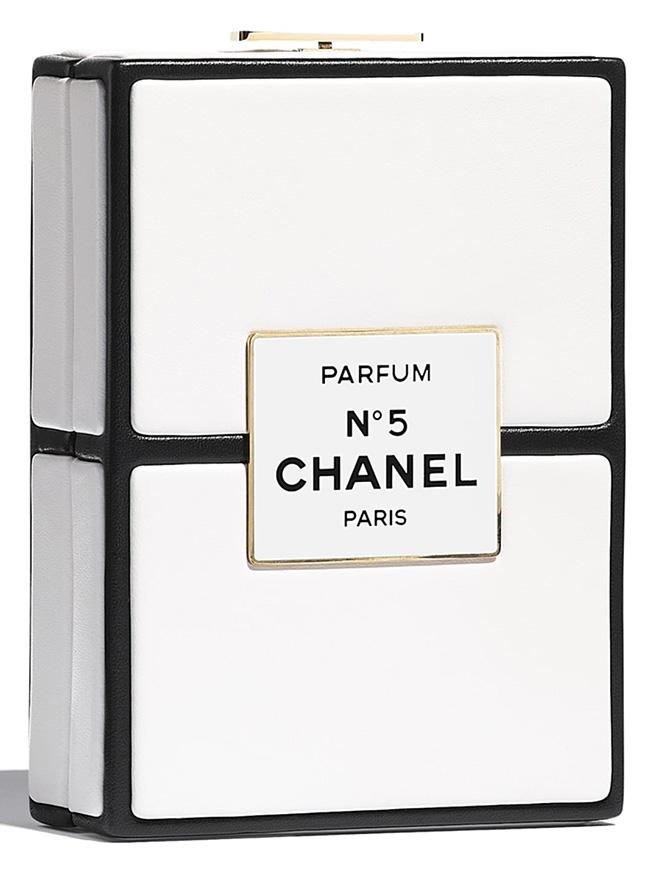 Chanel No. Parfum Box Evening Clutch