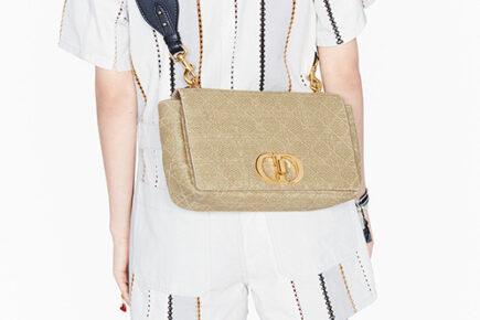 Dior Caro Straw Effect Bag thumb