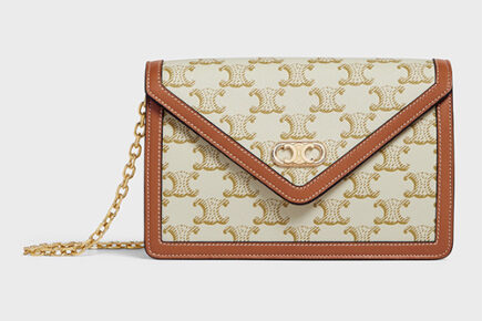 Celine Maillon Triomphe Wallet On Chain thumb