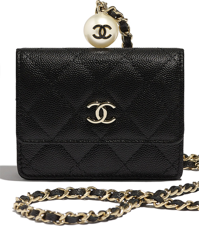 Chanel CC Pearl Charm SLG Collection