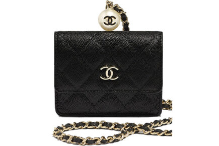 Chanel CC Pearl Charm SLG Collection thumb