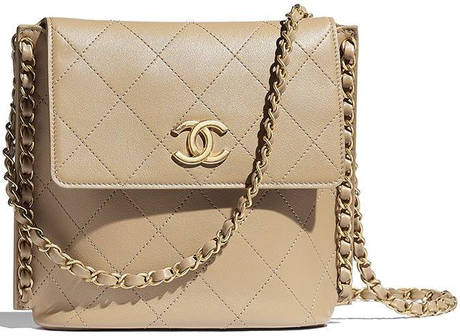 Chanel Small Hobo Bag With Pearl Chain