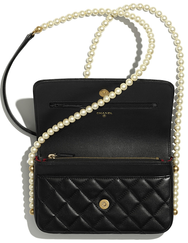 Chanel WOC With Pearl Chain
