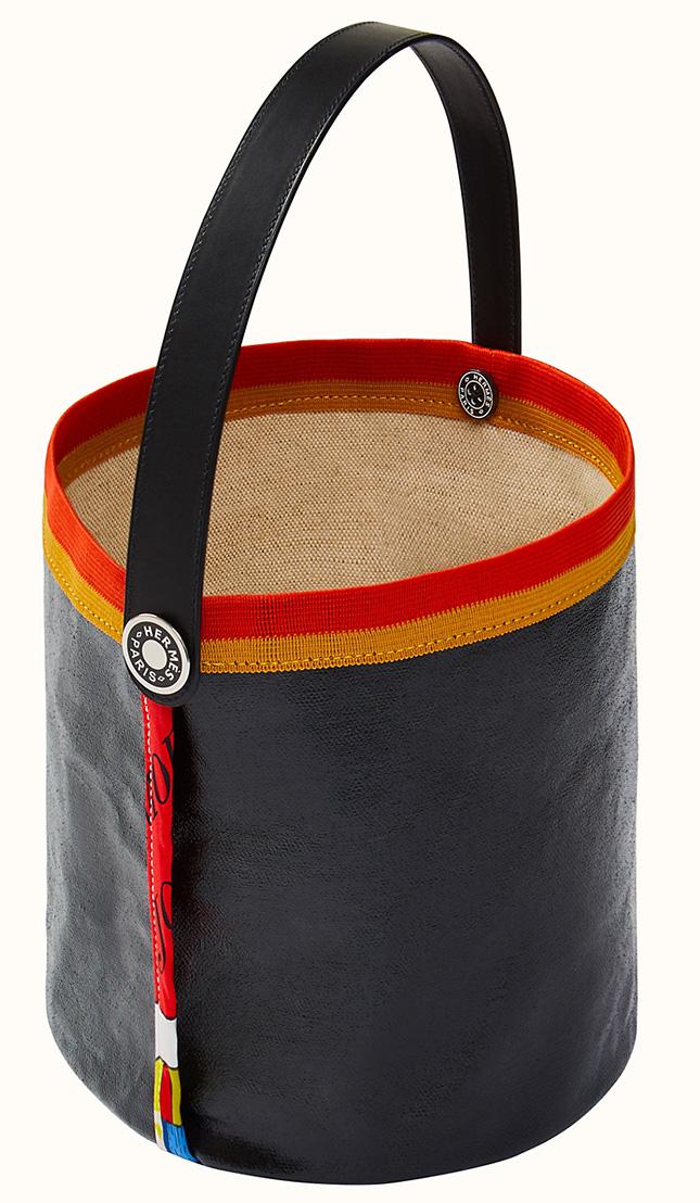 Hermes Petit H Canvas Basket