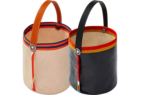 Hermes Petit H Canvas Basket thumb