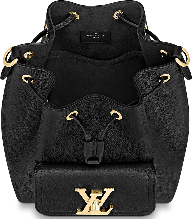 Louis Vuitton Lockme Bucket Bag With Front Pocket