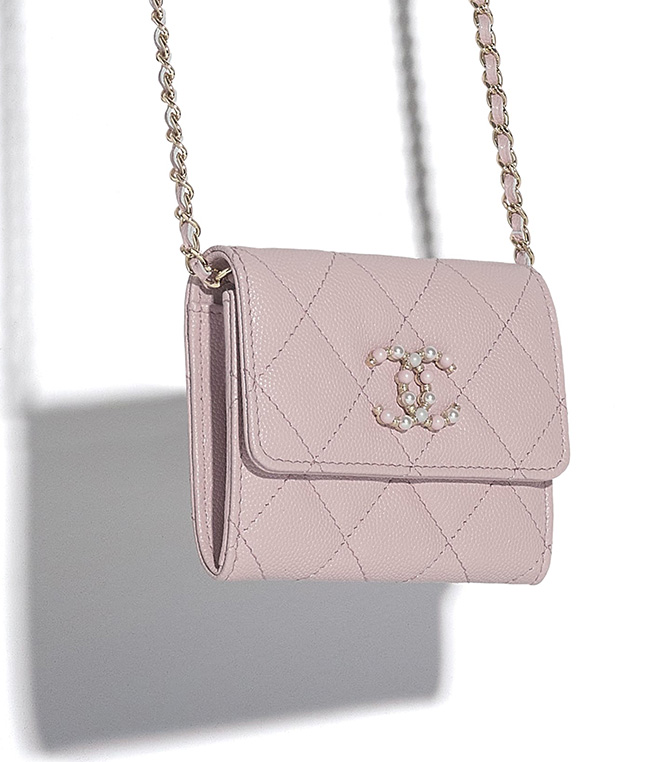 Chanel Candy CC Flap Coin Purse With Chain