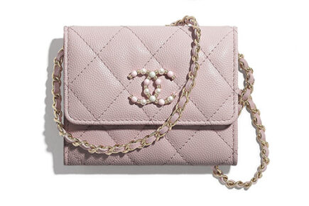 Chanel Candy CC Flap Coin Purse With Chain thumb