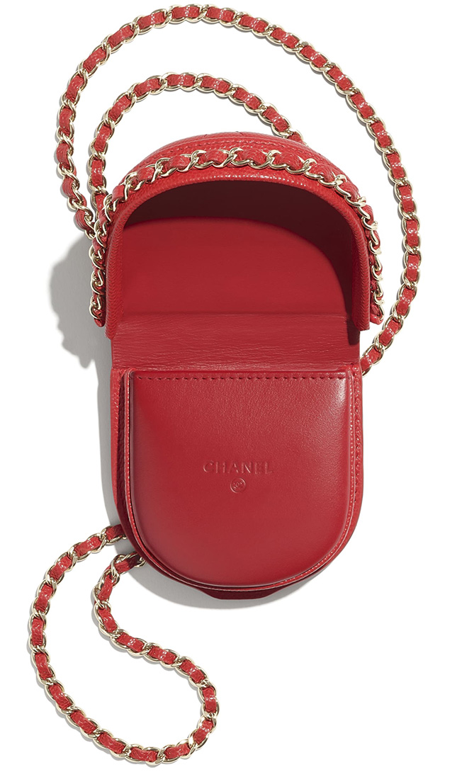 Chanel Classic Tray Coin Purse With Chain