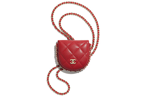 Chanel Classic Tray Coin Purse With Chain thumb