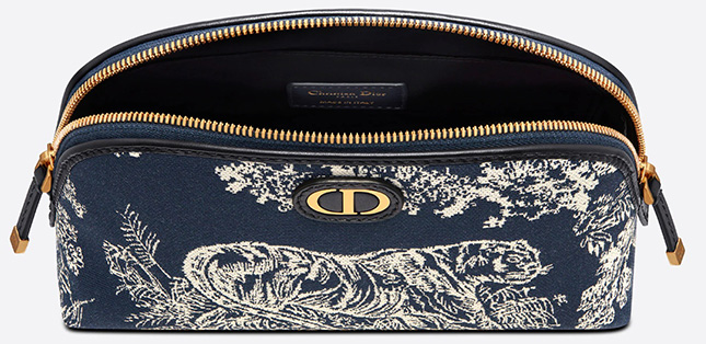 Dior Montaigne Toile de Jouy Reverse Jacquard Beauty Pouch