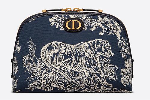 Dior Montaigne Toile de Jouy Reverse Jacquard Beauty Pouch thumb