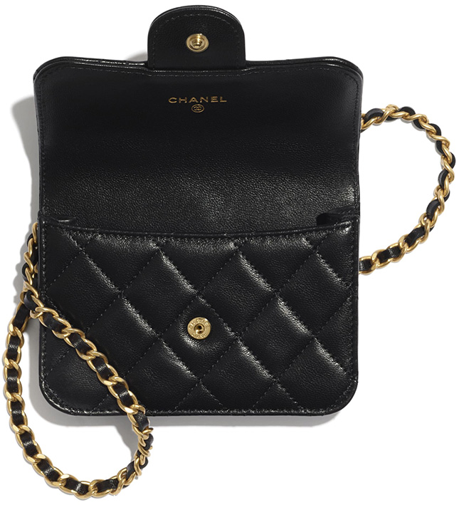 Chanel Handle Coin Purse With Chain