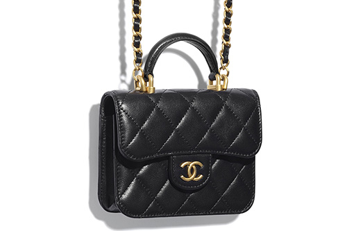 Chanel Handle Coin Purse With Chain thumb