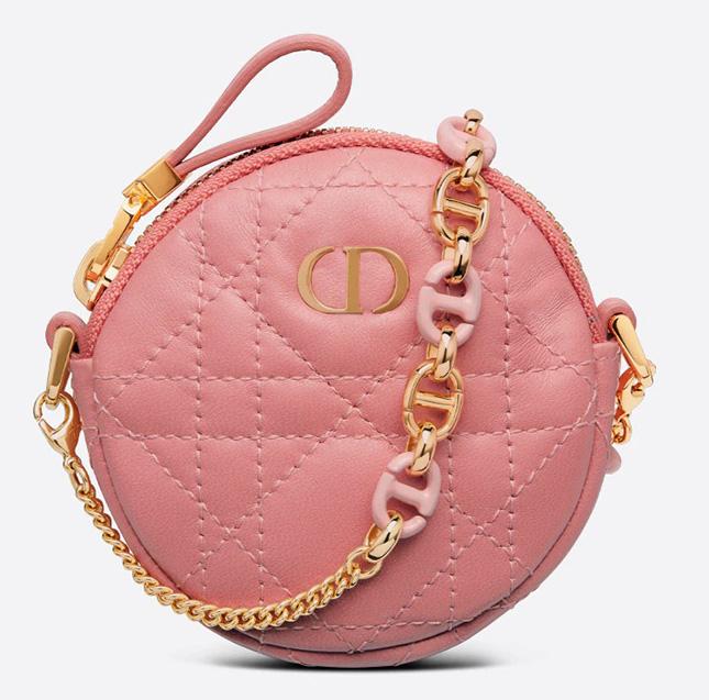 Dior Mini Caro Round Pouch