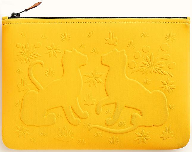 Hermes Neobain Les Leopards CasePouch
