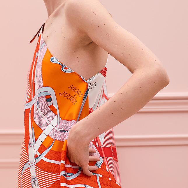 Hermes Petit H Silk Dress
