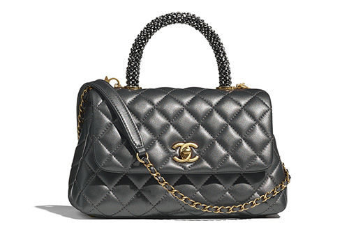 Chanel Coco Handle Bag With Strass Handle thumb