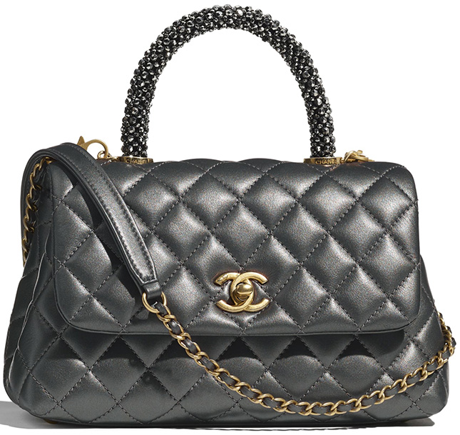 Chanel Coco Handle Bag With Strass Handle