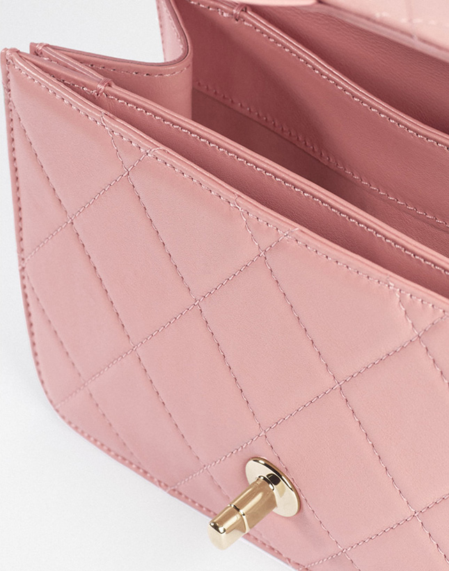 Chanel Flap Bag With Top Handle For Fall Winter Collection Act