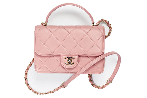 Chanel Flap Bag With Top Handle For Fall Winter Collection Act thumb