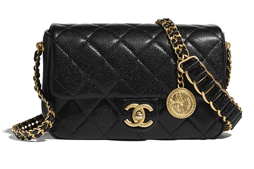 Chanel Medallion Bag With Large Woven Leather Strap thumb
