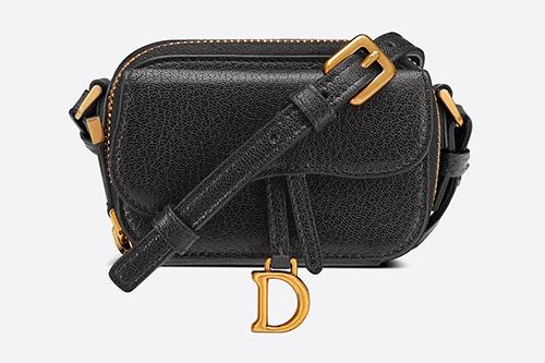 Dior Mini Saddle Shoulder Strap Pouch thumb