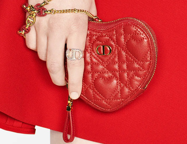 DiorAmour Caro Heart Pouch With Chain