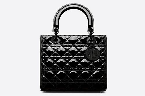 Lady Dior Ultra Black Glossy Bag thumb
