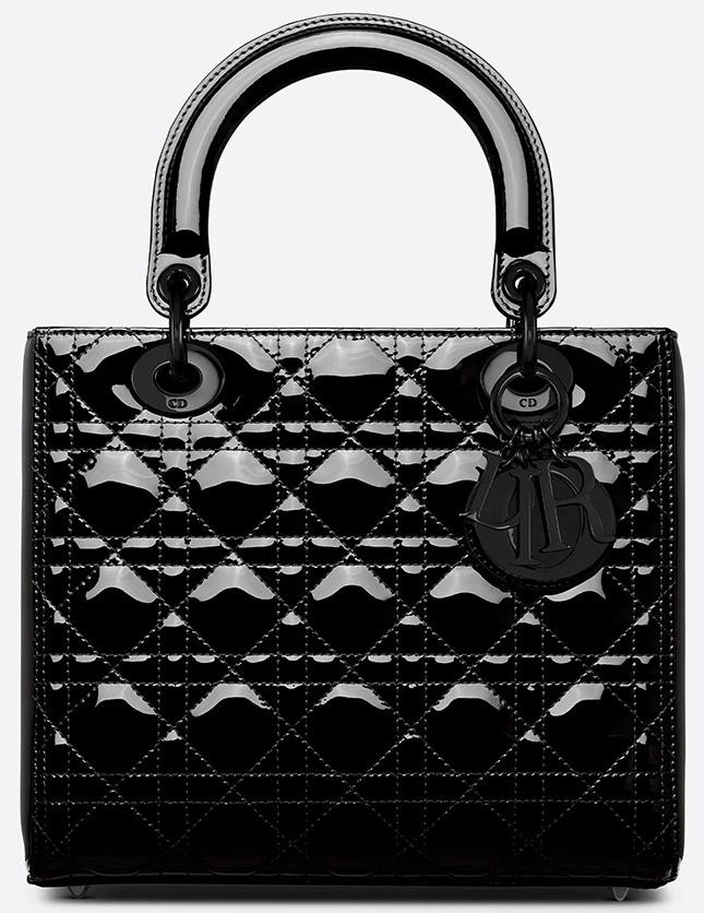 Lady Dior Ultra Black Glossy Bag